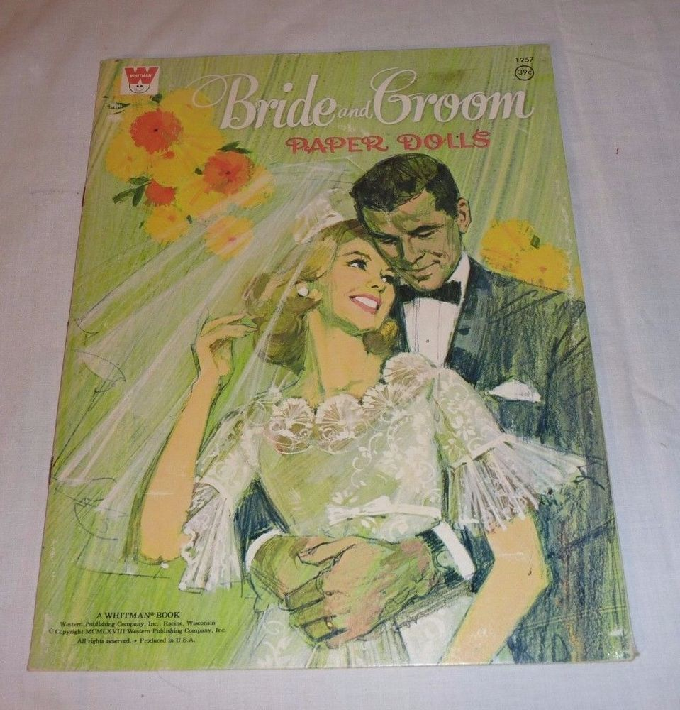 Details about Whitman Bride & Groom Paper Dolls Vintage