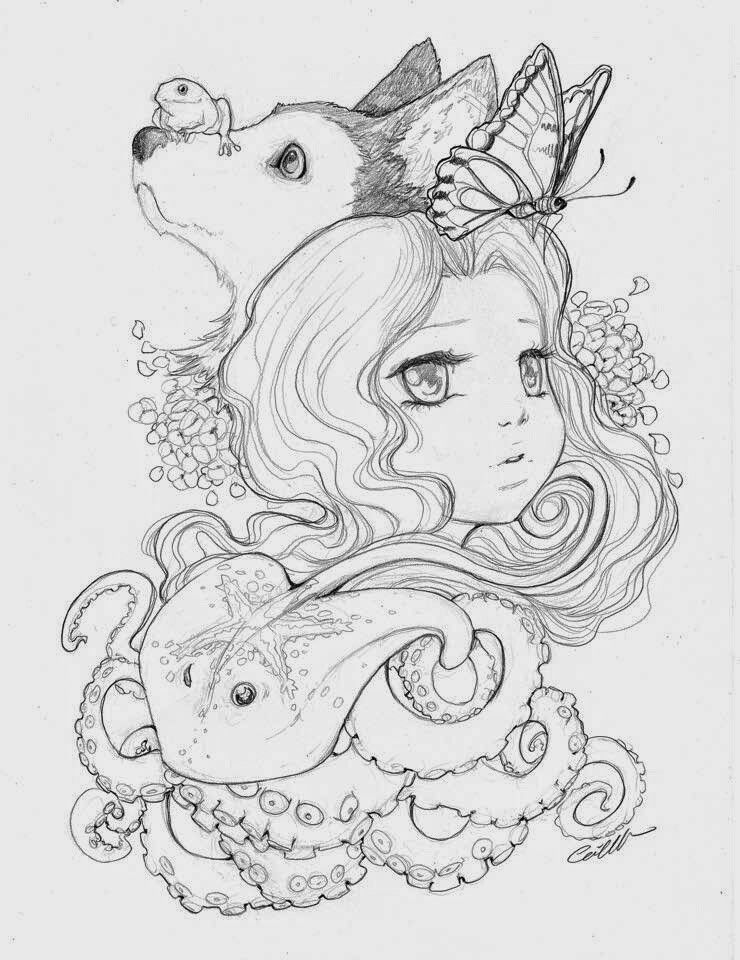 Pin By Mandy Rindt On Camilla D Errico Manga Coloring Book Cute Coloring Pages Animal Coloring Pages