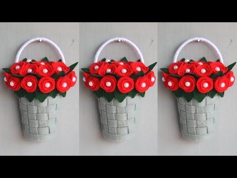 Diy Bunga Gantung Dari Kain Flanel Hiasan Dinding Dari Kain Flanel Diy Wall Hanging Youtube Bunga Gantung Kain Flanel Hiasan