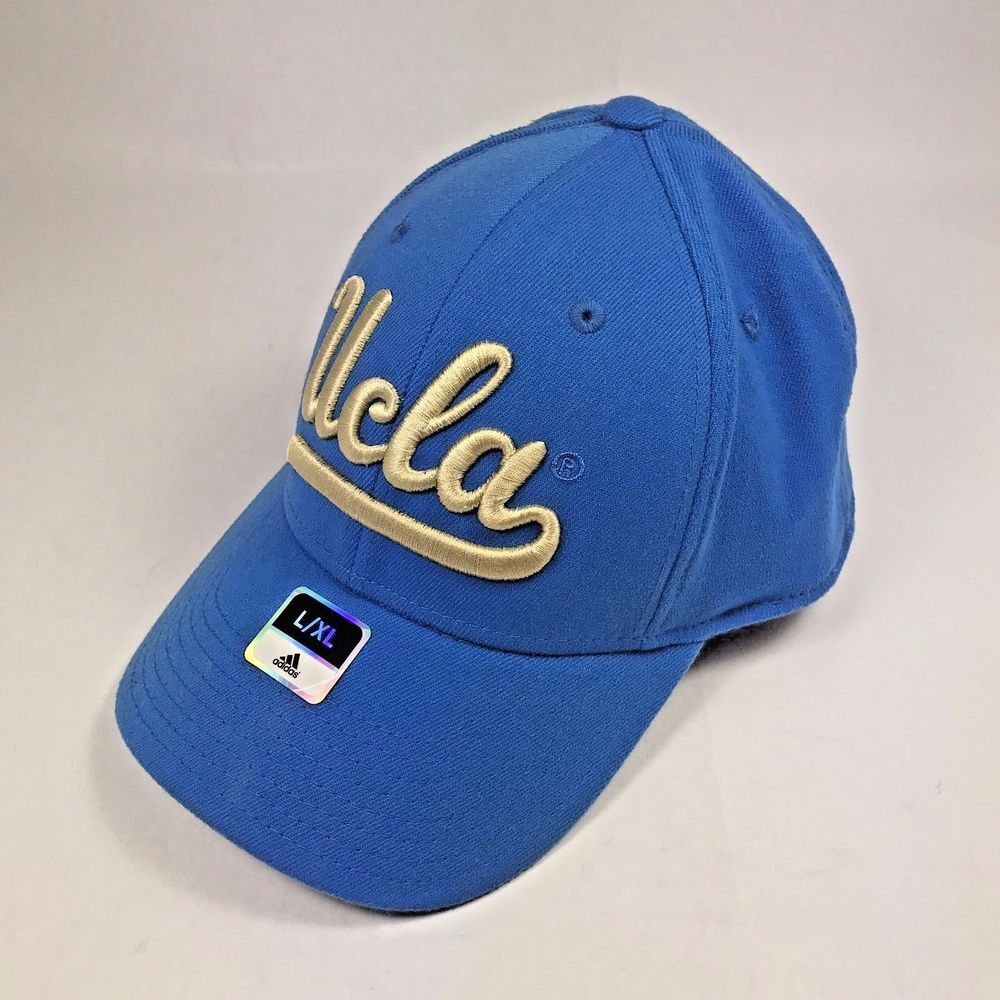 35bbcda2b0ea8 UCLA Adidas Blue Baseball Cap New With Tags L   XL with Gold Letters  Adidas   UCLABruins
