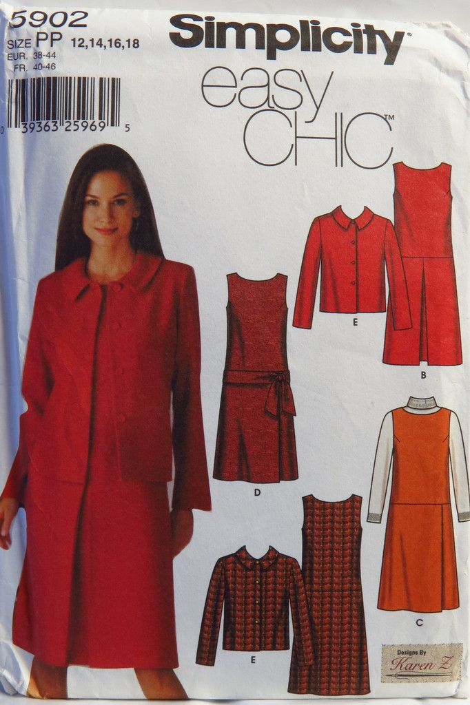 Simplicity 5902 Misses\' and Miss Petite Dress or Jumper with Skirt ...