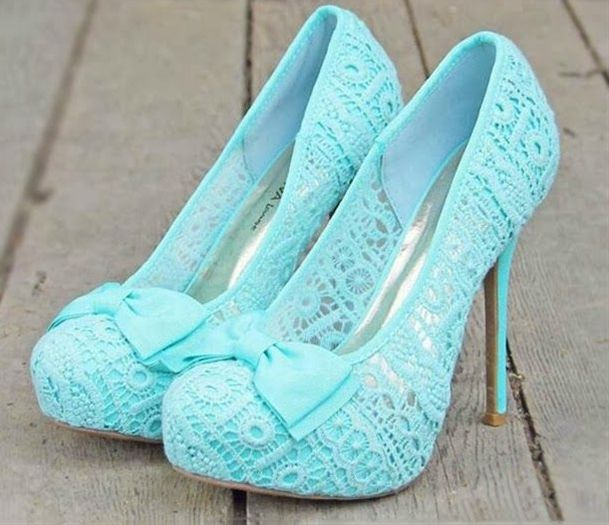 High Heels Blue Lace Prom Shoes | Blue lace, High heel and Prom