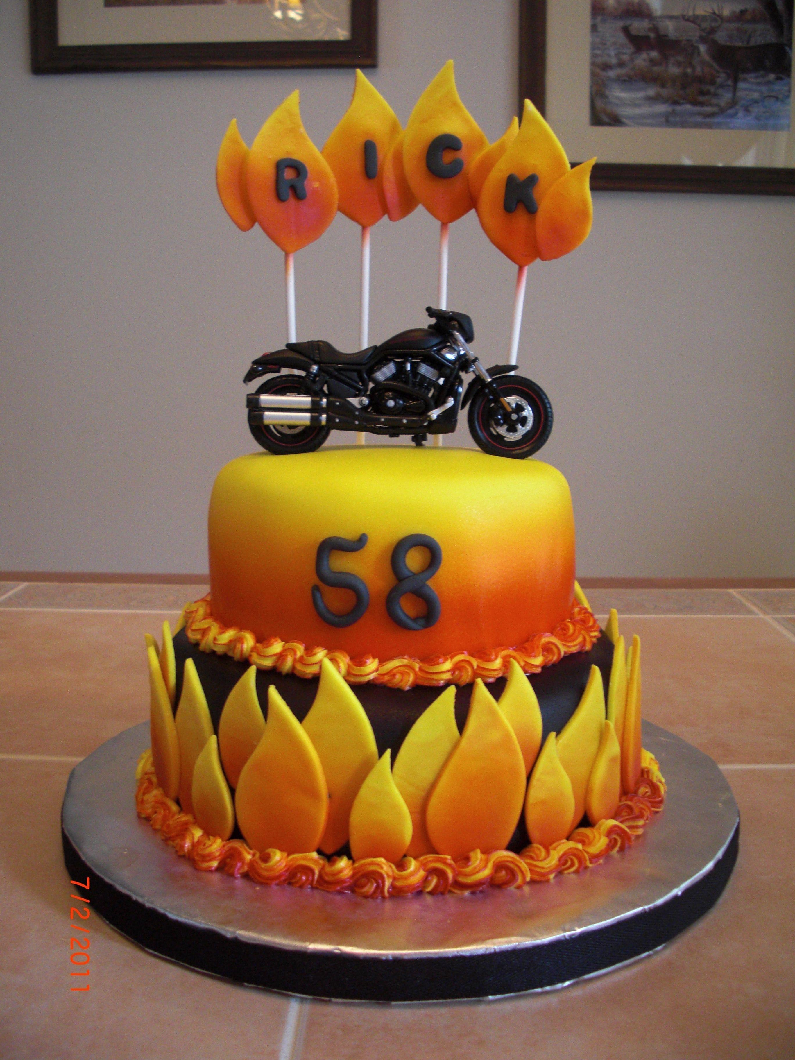 Flaming Motorcycle Cake Ghostrider Birthday Cakes Cakepins