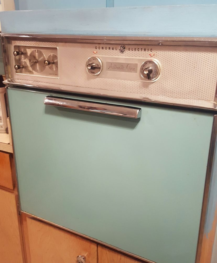 Ge Electric In Wall Oven Stovetop Aqua Teal Vintage Combo Orlando Flarea Local Wall Oven Oven Wall