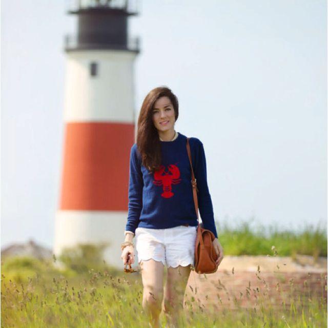 Sarah Vickers w/ Tuckernuck lobster sweater