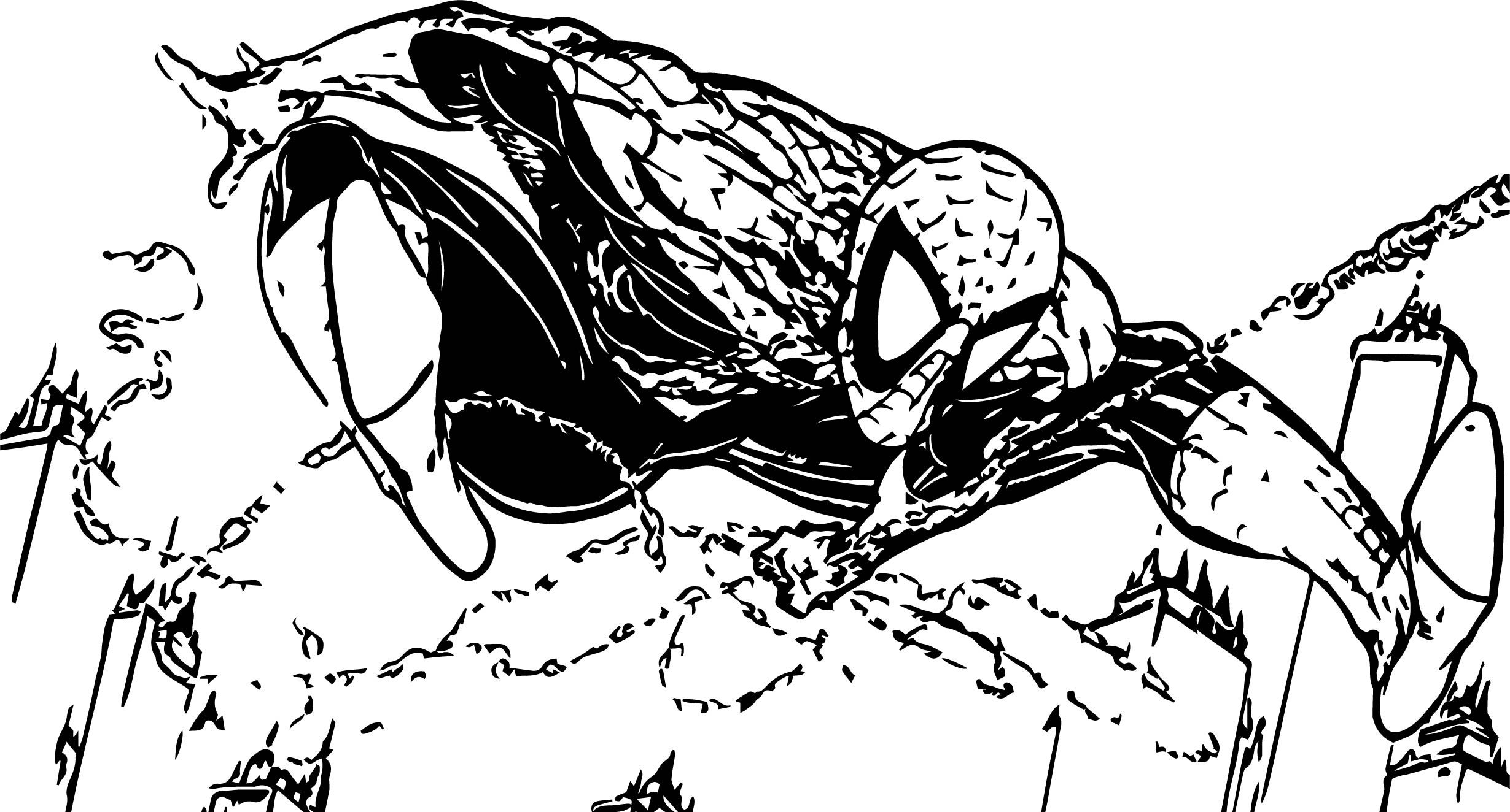 Awesome Spiderman Cartoon Full Size Spider Man Coloring Page