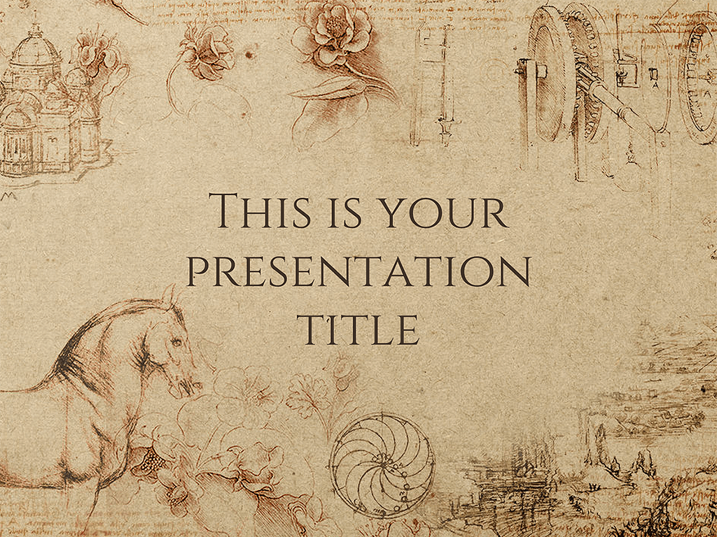 Free Presentation Template Historical Style History Background Powerpoint Template Free Presentation Template Free