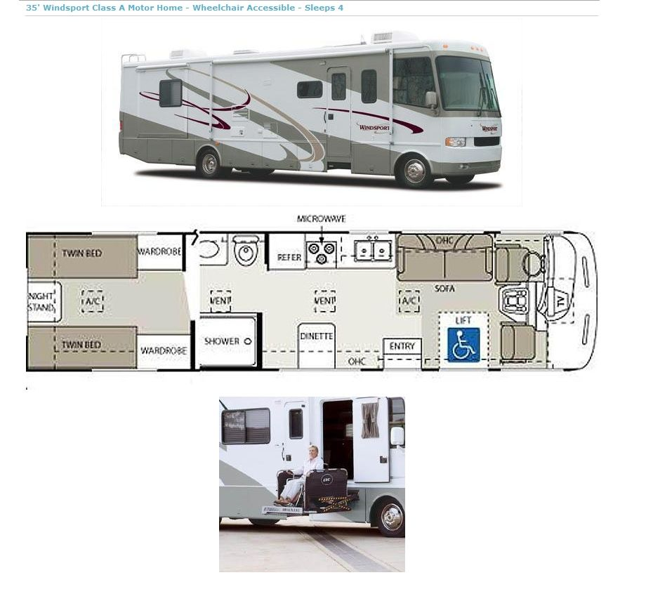 Handicap Accessible Rv Recreational Vehicles Motorhome