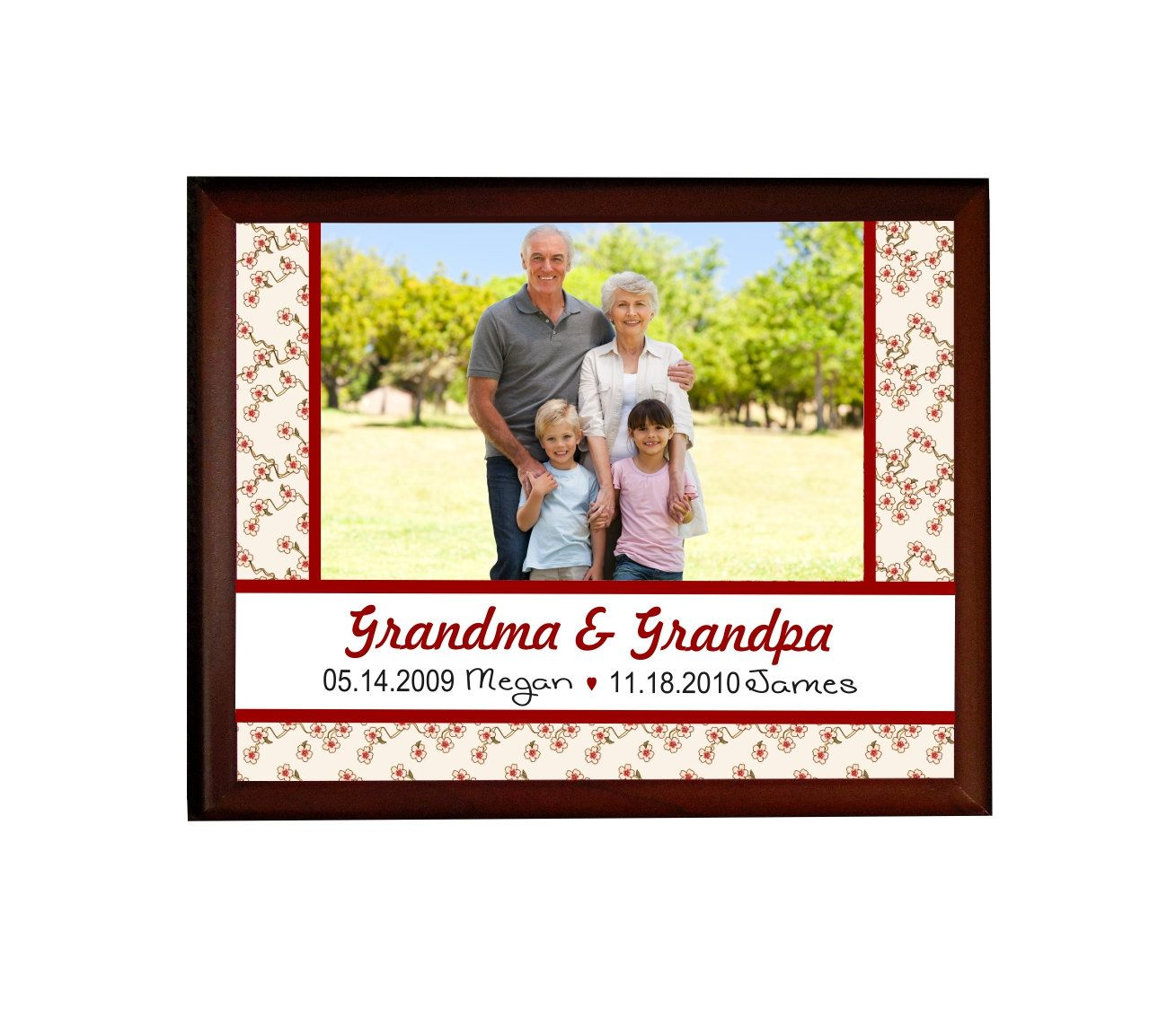Personalized Grandparents Gift Photo Plaque Custom Gifts For