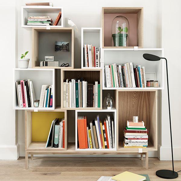 Muuto Stacked shelf system books \ shelves Pinterest Shelf - innovative raumteiler system