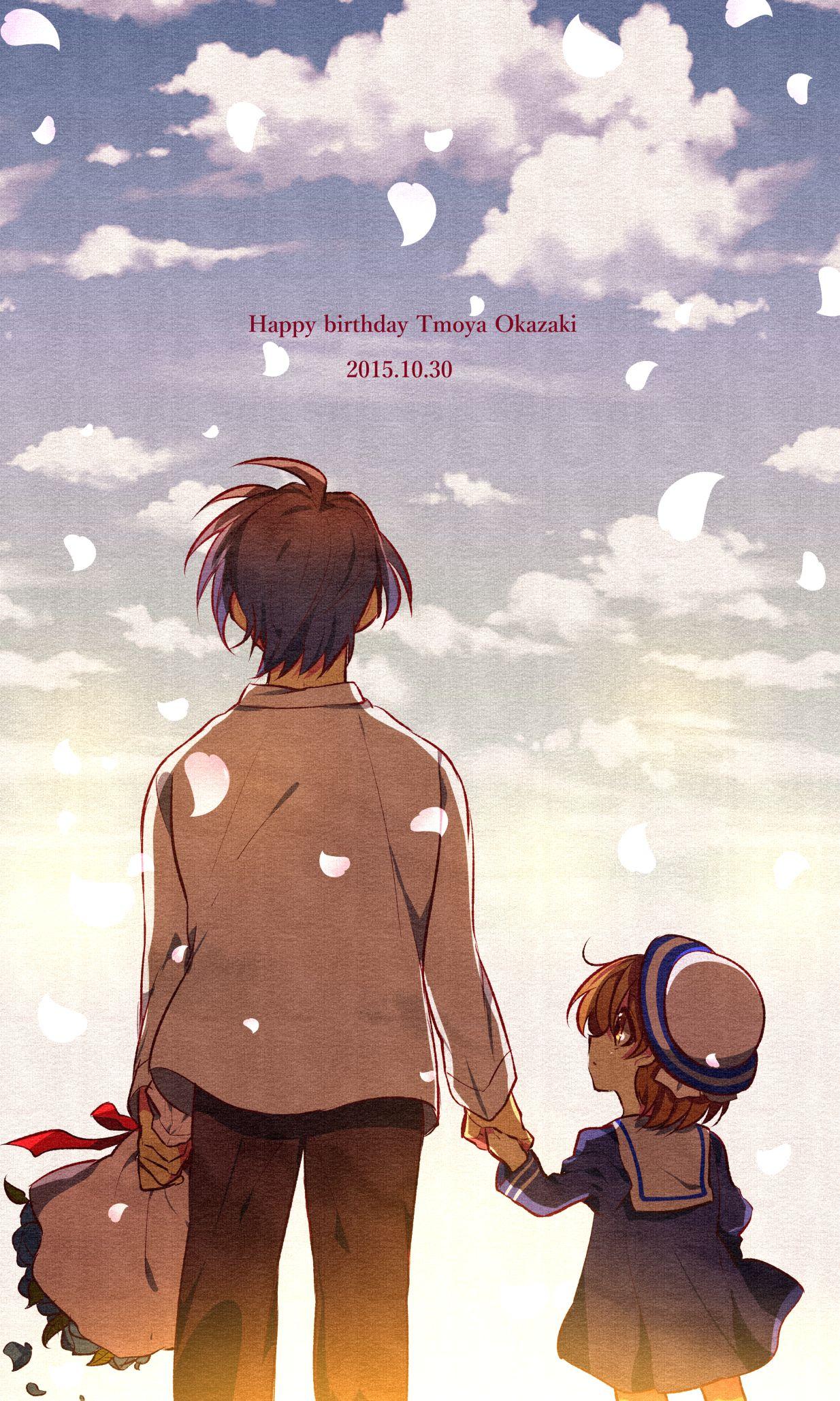 Shiroto Pixiv1781512 Clannad Okazaki Ushio Okazaki Tomoya