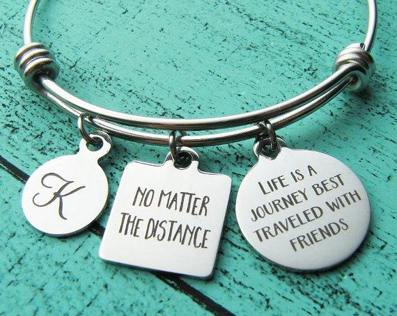 8aab791d14124 best friend long distance friendship bracelet, graduation gift, no ...