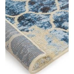 benuta Kurzflor Teppich Zola Blau 133×190 cm – Moderner Teppich für Wohnzimmer benuta