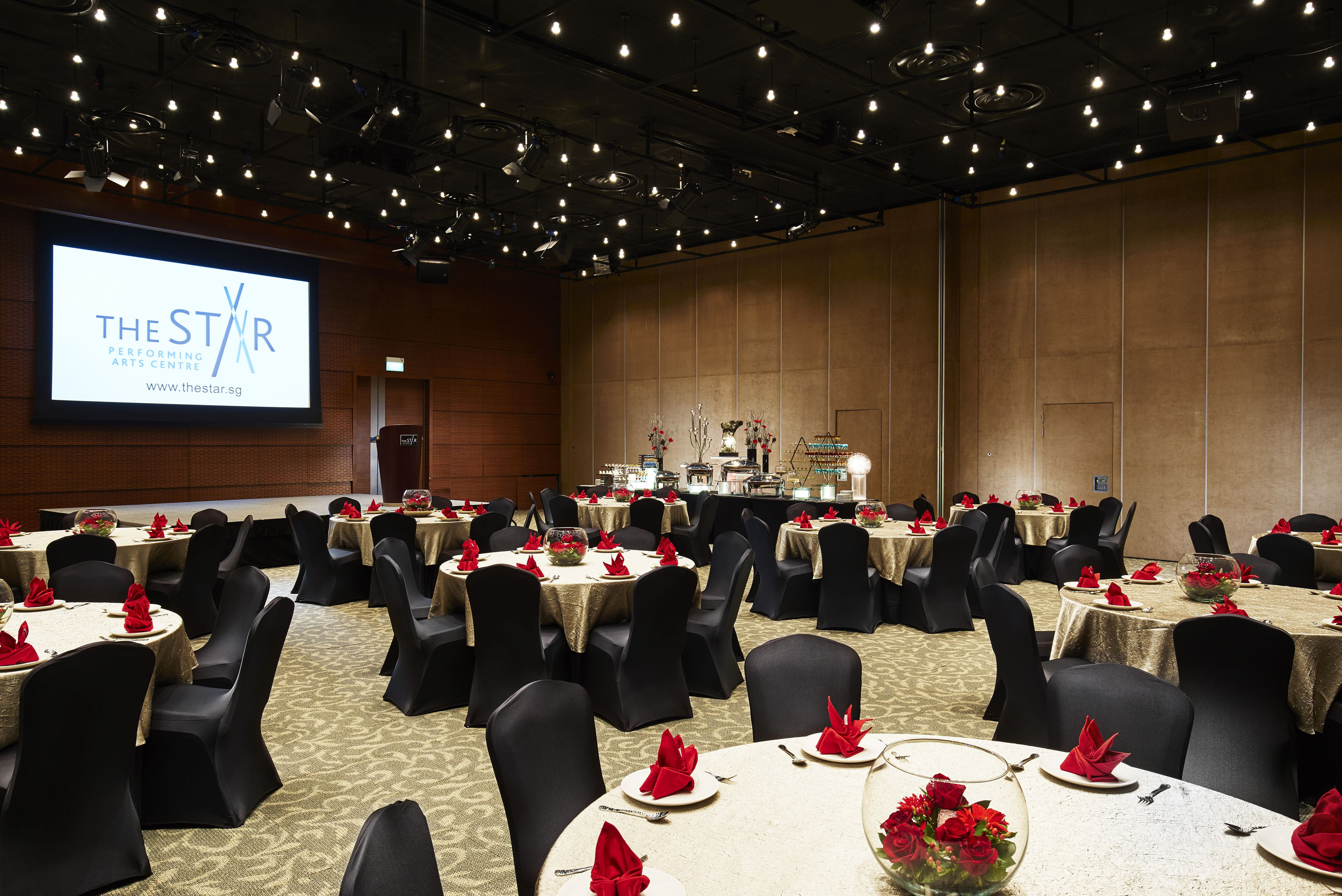 The Star Gallery Banquet Setting Function Hall Theatre Style Seating Room