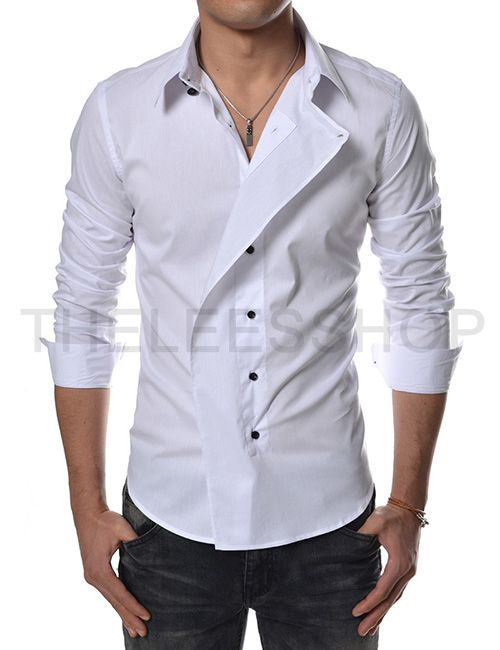 109a7dccdb4515 Slim Fit Unbalanced Dress Shirts::::Theleesshop:::: All mens slim & luxury  items