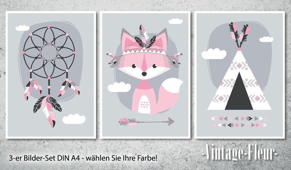Drucke & Plakate 3er Set Poster Bilder Kinderzimmer A4