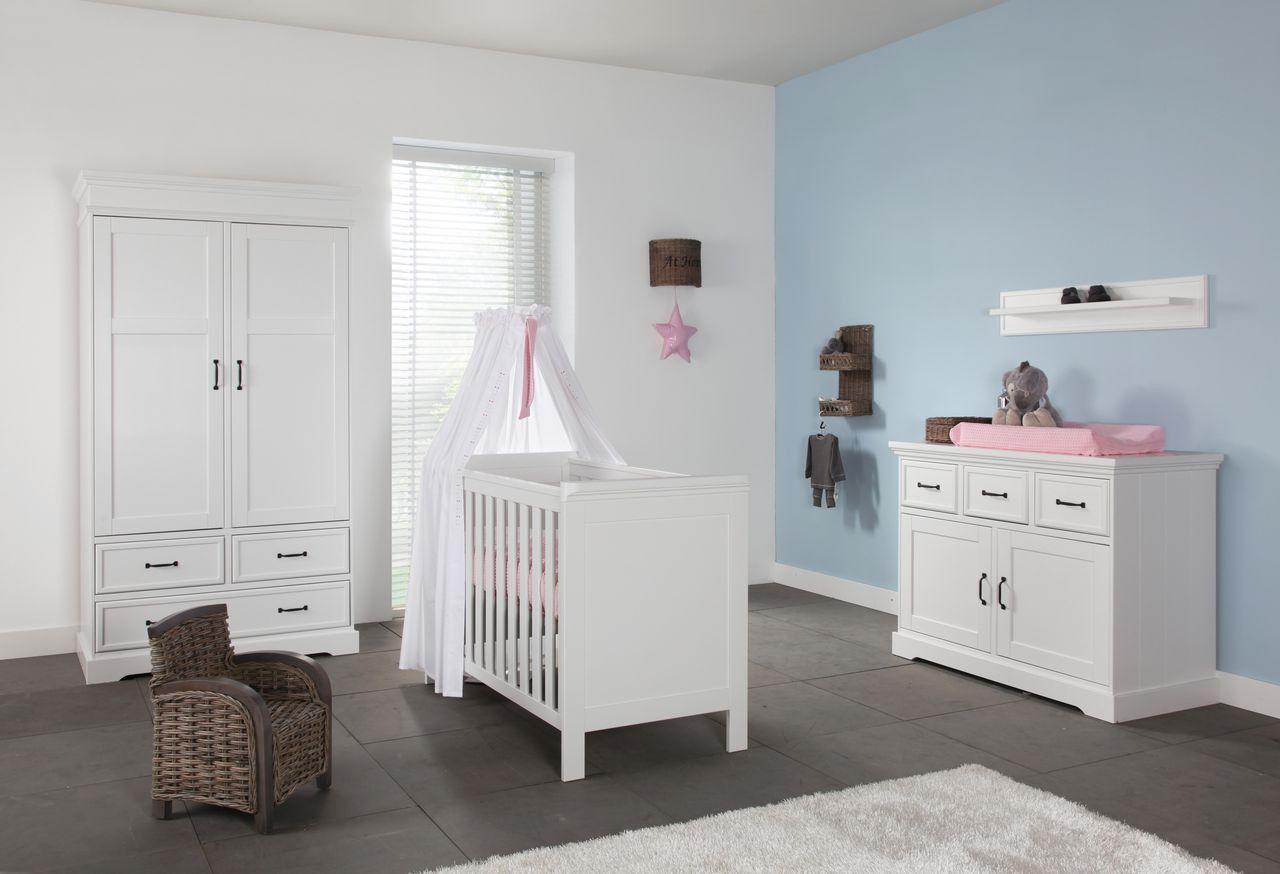 Kidsmill Kleiderschrank 3türig Savona ohne Kreuz Weiß in
