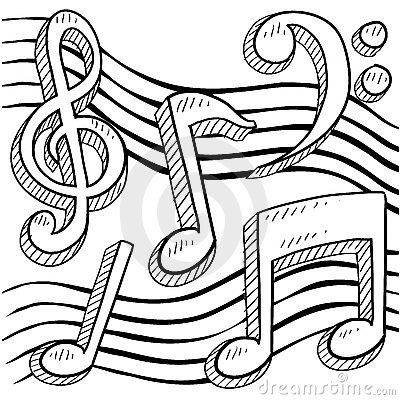 Music Notes Sketch Music Notes Drawing Music Coloring Music Notes Art