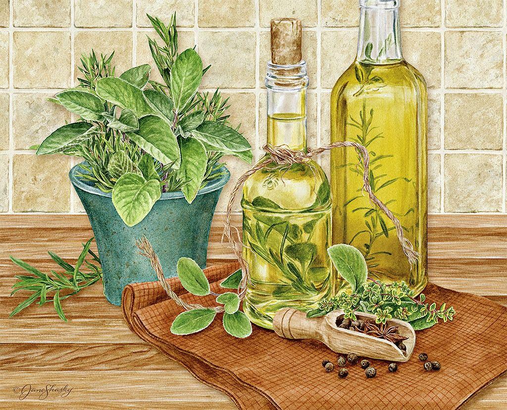 Jane Shasky Herb Garden November 2016 Decoupage Printables Window Painting Watercolor Art