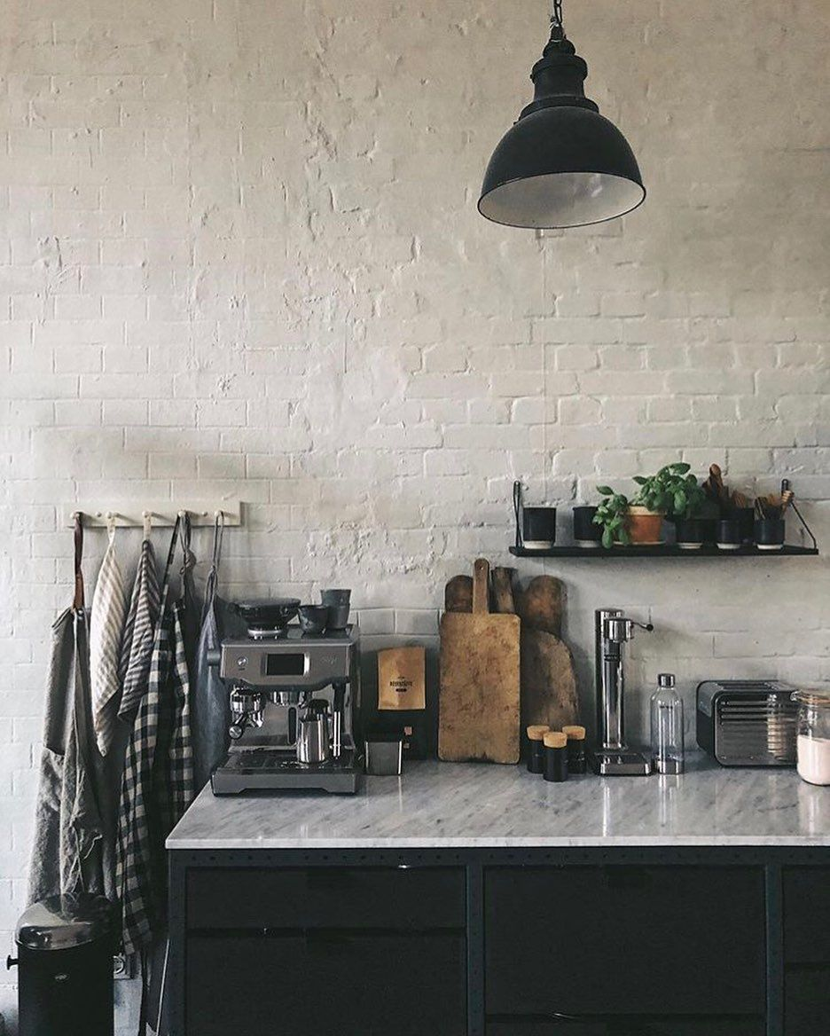 Black Cabinets In Industrial Style By Designtales Arkinteriors