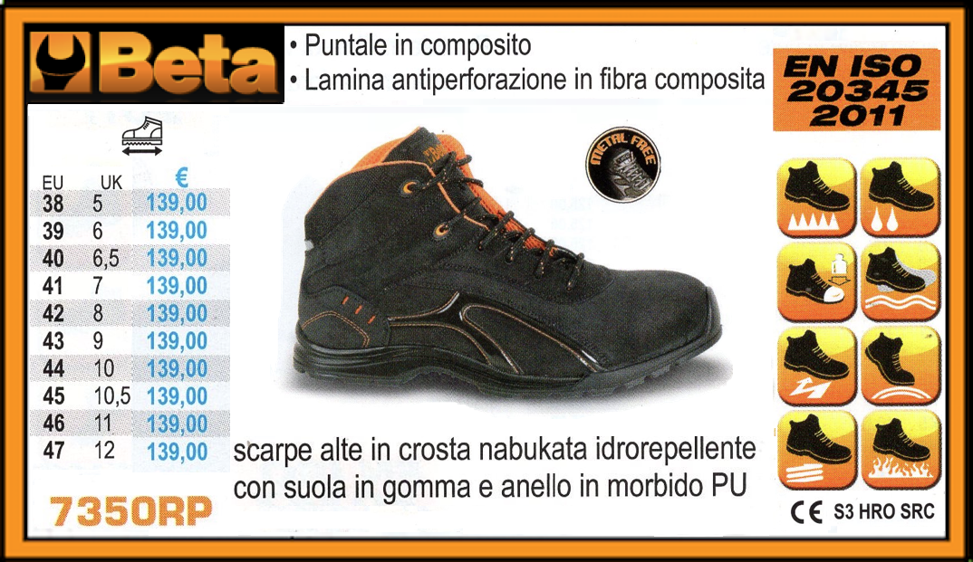 BETA Scarpe alte in crosta nabukata idrorepellente