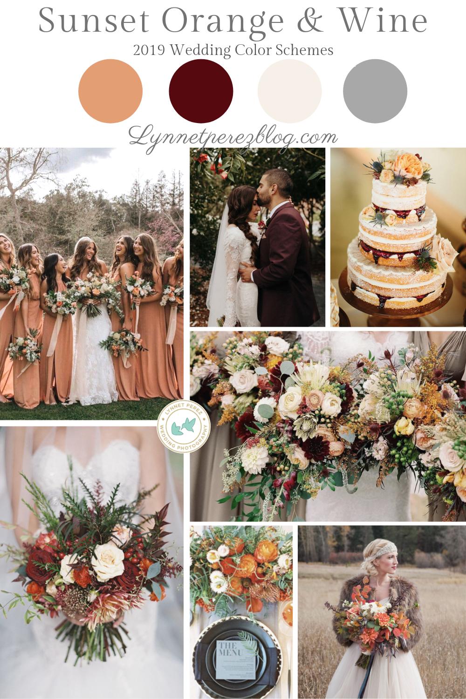 brides family: vermillion(burnt orange) grooms family: burgundy in
