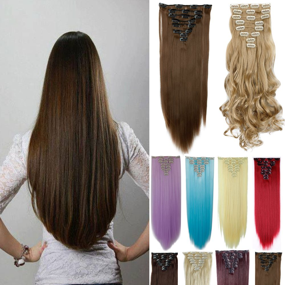 Free shipping clip in hair extension 26inch 8pcsset 170g no heat free shipping clip in hair extension 26inch 8pcsset 170g no heat resistance straight hair pmusecretfo Gallery