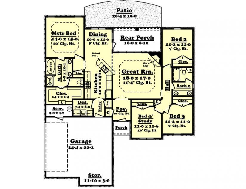 #654624 - Landon : House Plans, Floor Plans, Home Plans, Plan It at HousePlanIt.com