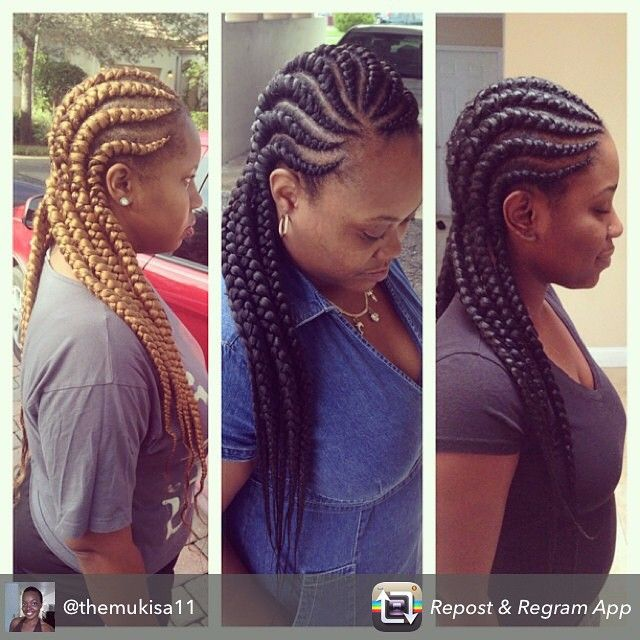 19 More Big Cornrow Styles To Feast Your Eyes On Black Hair