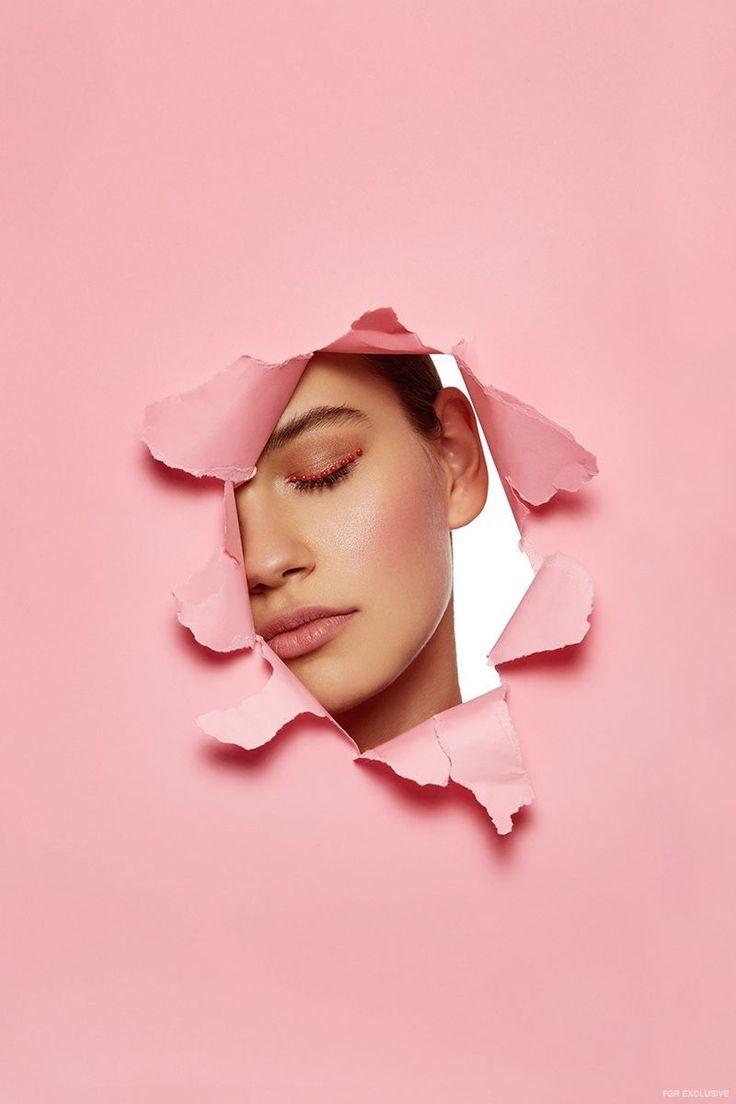 Günstige Foto Shooting Idee: Porträt mit Pappe in rosa. # ...
