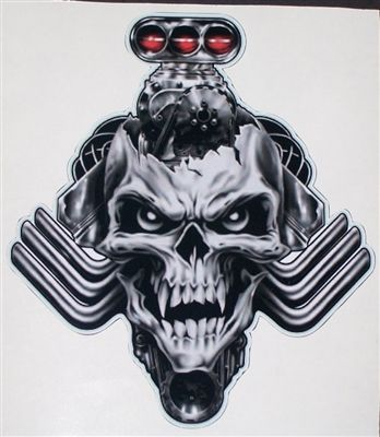 Blown Blower Head Nitro Skull 8 X 9 Full Color