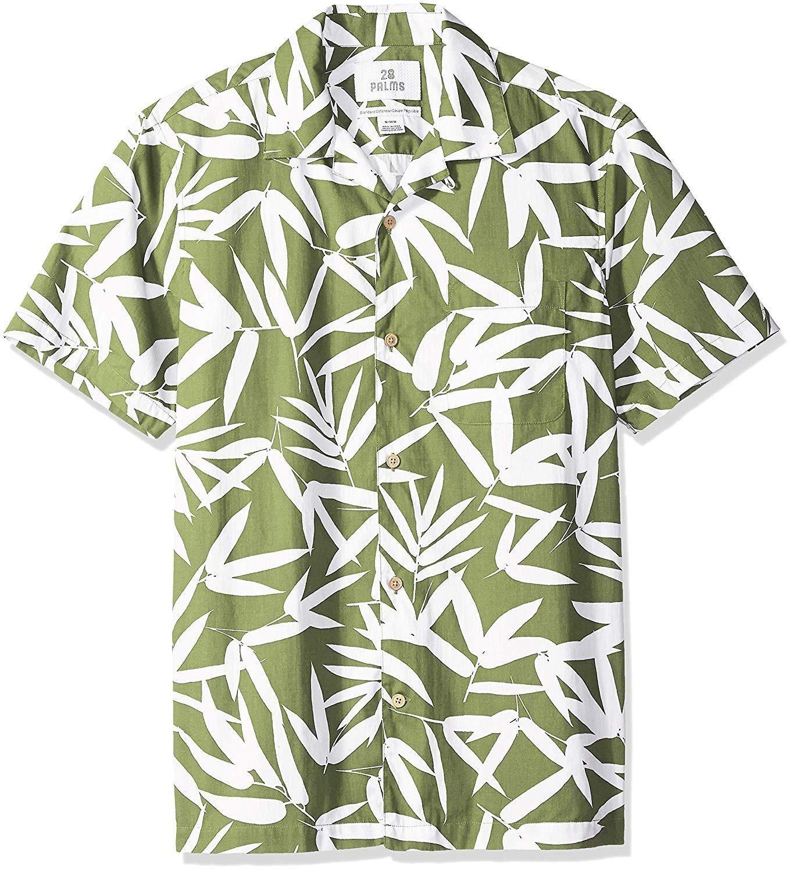 00fc4a7c 28 Palms Men's Standard-Fit 100% Cotton Tropical Hawaiian Shirt in ...