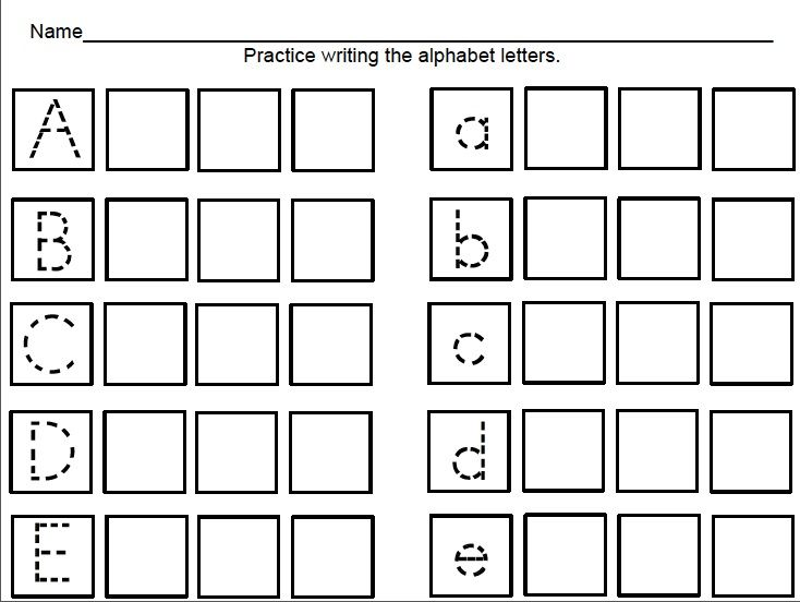 kindertrips Free Handwriting Sheets – Worksheets for Kindergarten Letters