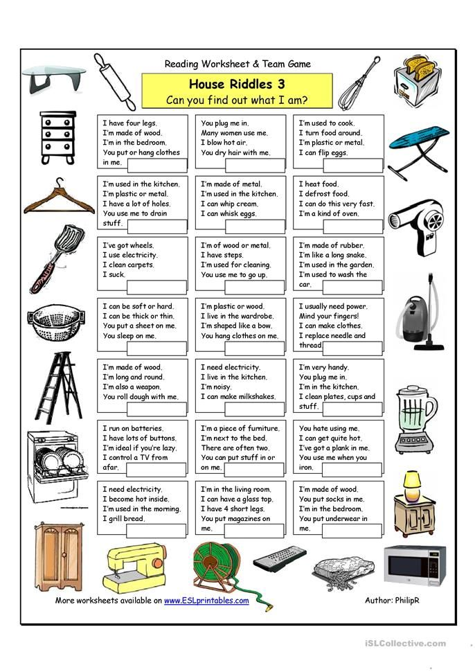House Riddles (3) Hard level 6 English lessons