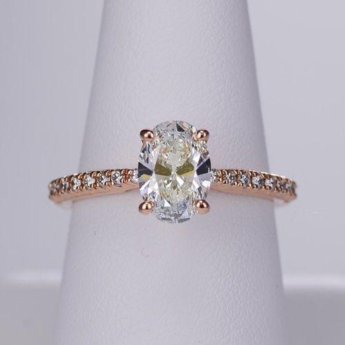 Oval cut rose gold engagement ring   Ritani