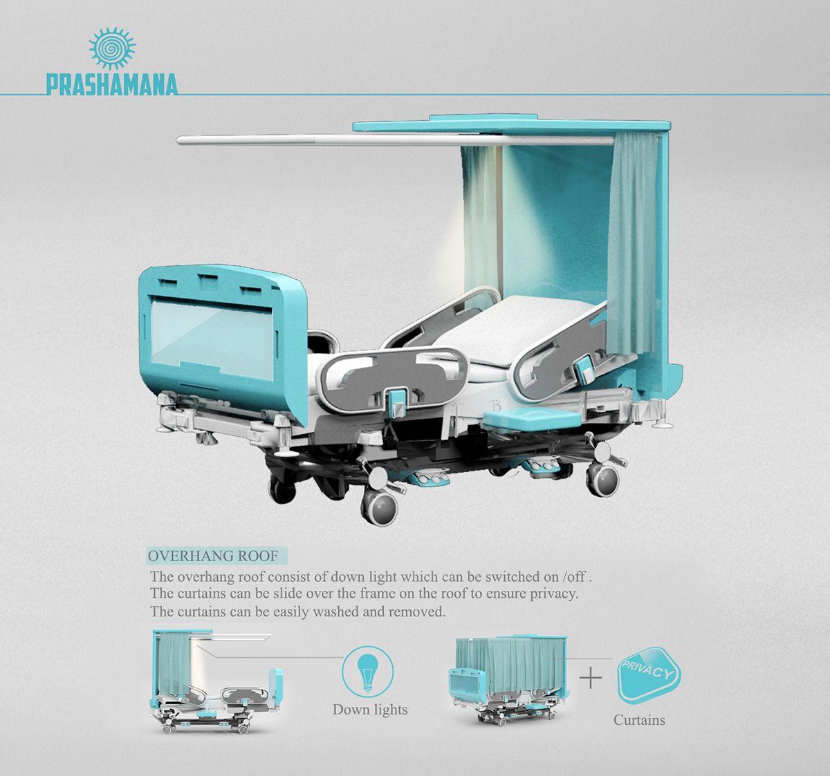 Prashamana A smart hospital bed on Behance Больницы