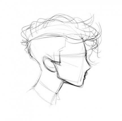 54 Best Ideas Drawing Faces Sideways Drawing Hair Tutorial Hair Illustration Drawing Boy Hair Drawing