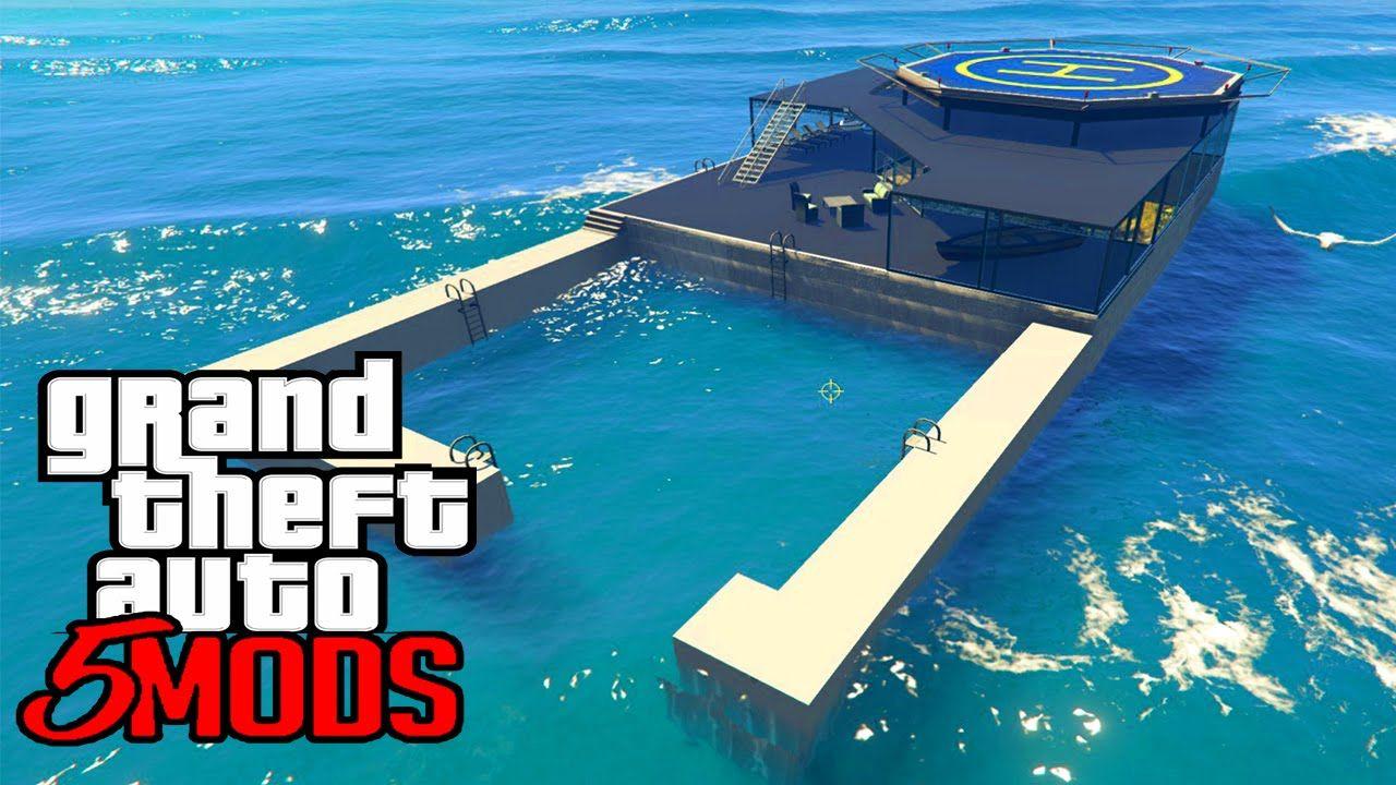 GTA 5 Mods Casa Secreta no Meio do Oceano! (GTA V PC