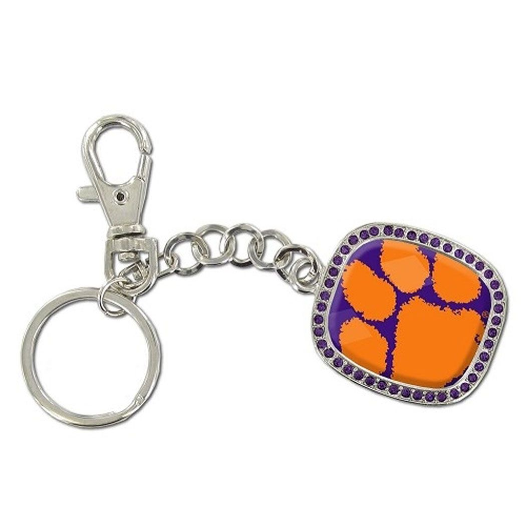 Clemson Tiger Purple Bling Key Chain Clemson With Images South Carolina Gamecocks Gamecocks Keychain