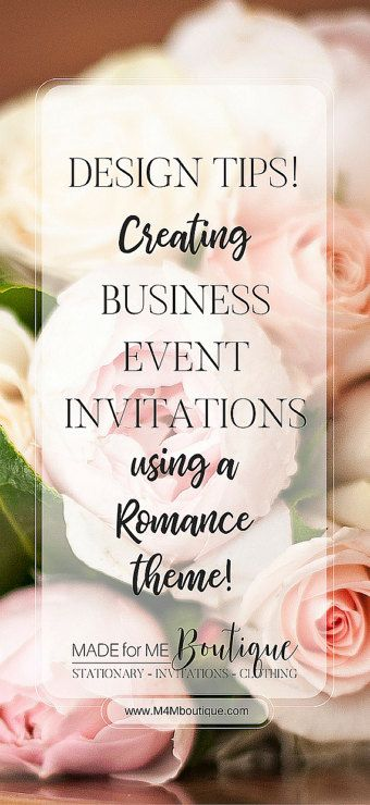 Romance Valentine Business Event Invitation TIPS! Romance - Business Event Invitation