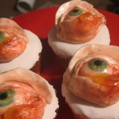 infected eye cupcake