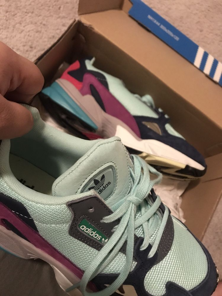 premium selection bb327 4be69 ADIDAS FALCON WOMEN BB9174 CLOUD WHITE BLUE KYLIE JENNER  fashion  clothing   shoes  accessories  womensshoes  athleticshoes (ebay link)