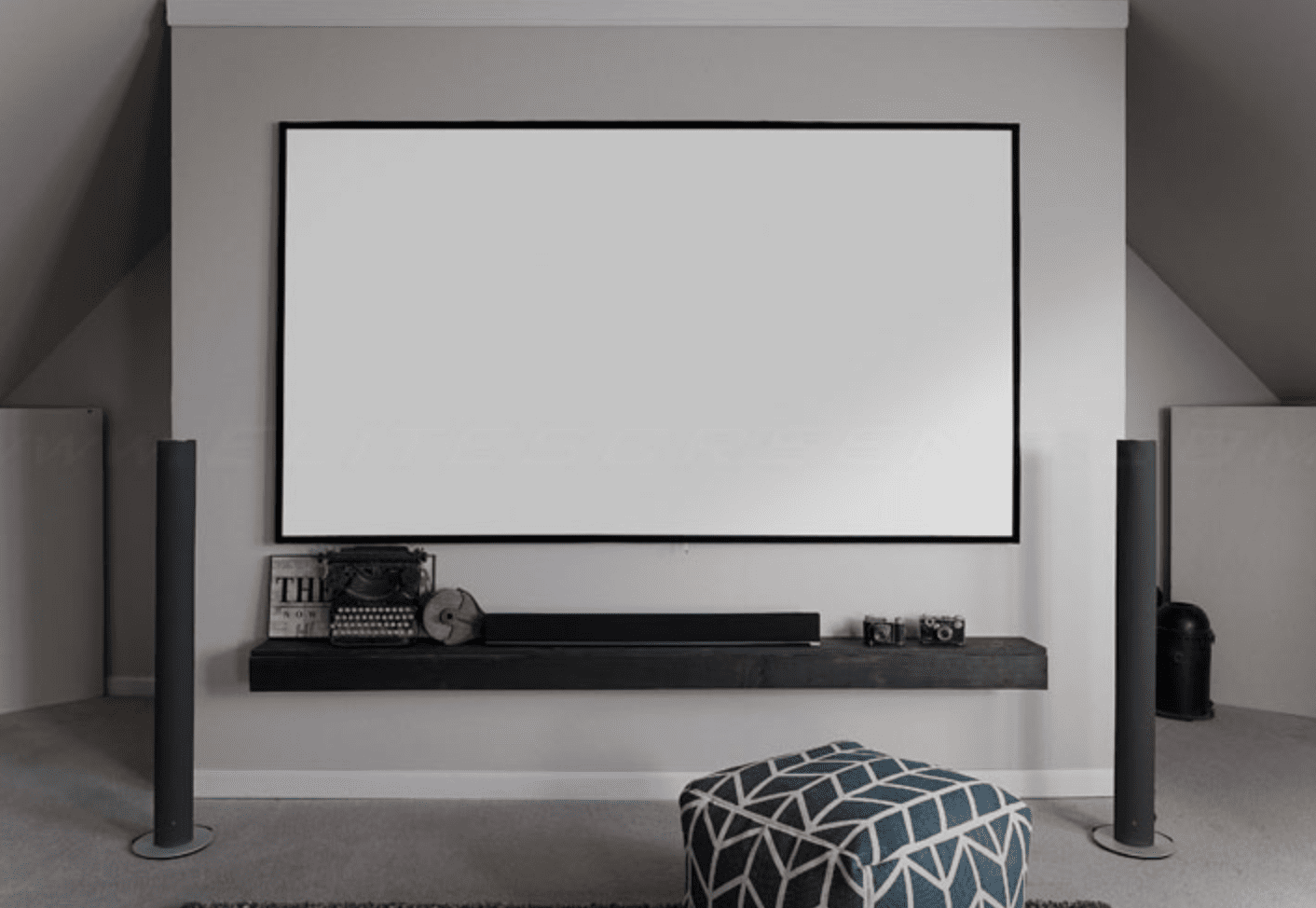 Elite Screens Aeon Edge Free Fixed Projector Screen 100 In 2021 Fixed Projector Screen Projector Screen Projection Screen