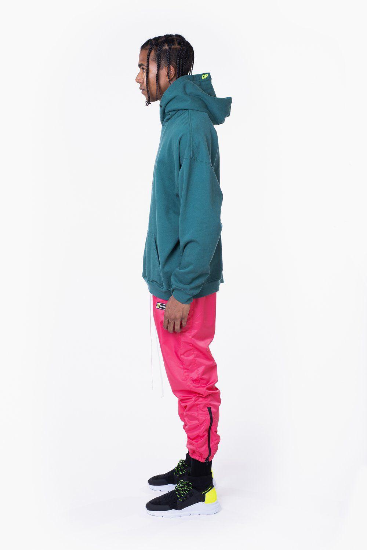 Daniel Patrick Vertical Logo Hoodie Daniel Patrick Fw19 Moving Mountains Hoodies Teal And Pink Womens Clothing Sizes [ 1500 x 1000 Pixel ]