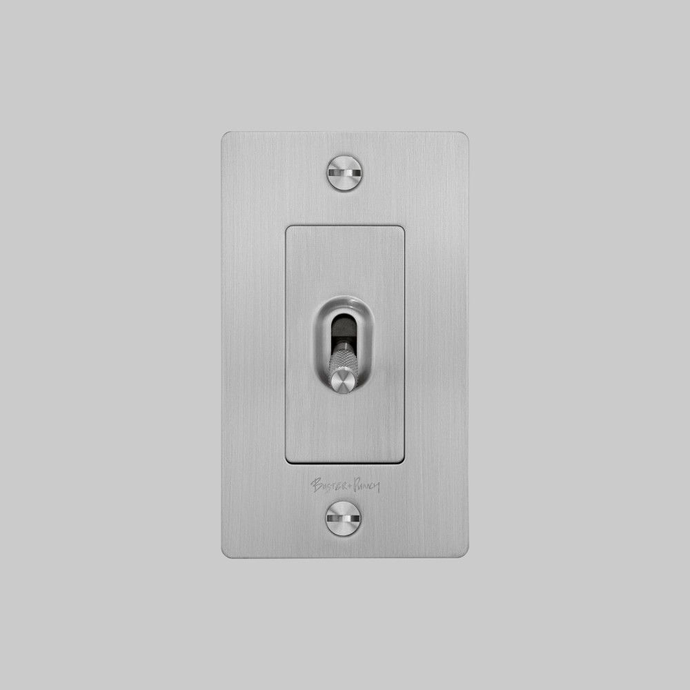 1g Toggle Steel In 2020 Black Light Switch Toggle Light