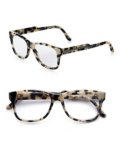 d66ad4ff0bec Stella McCartney - Oversized Square Acetate Reading Glasses Grey Tortoise -  Saks.com