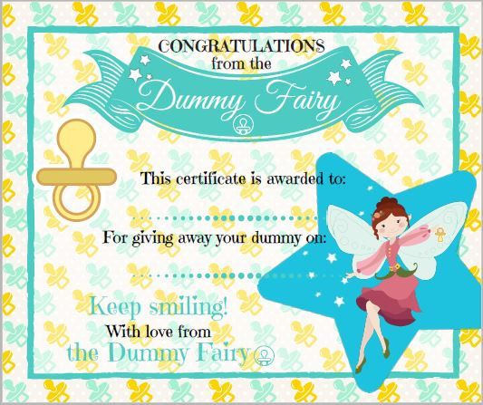 Dummy Fairy Certificate Fairies Etsy And By