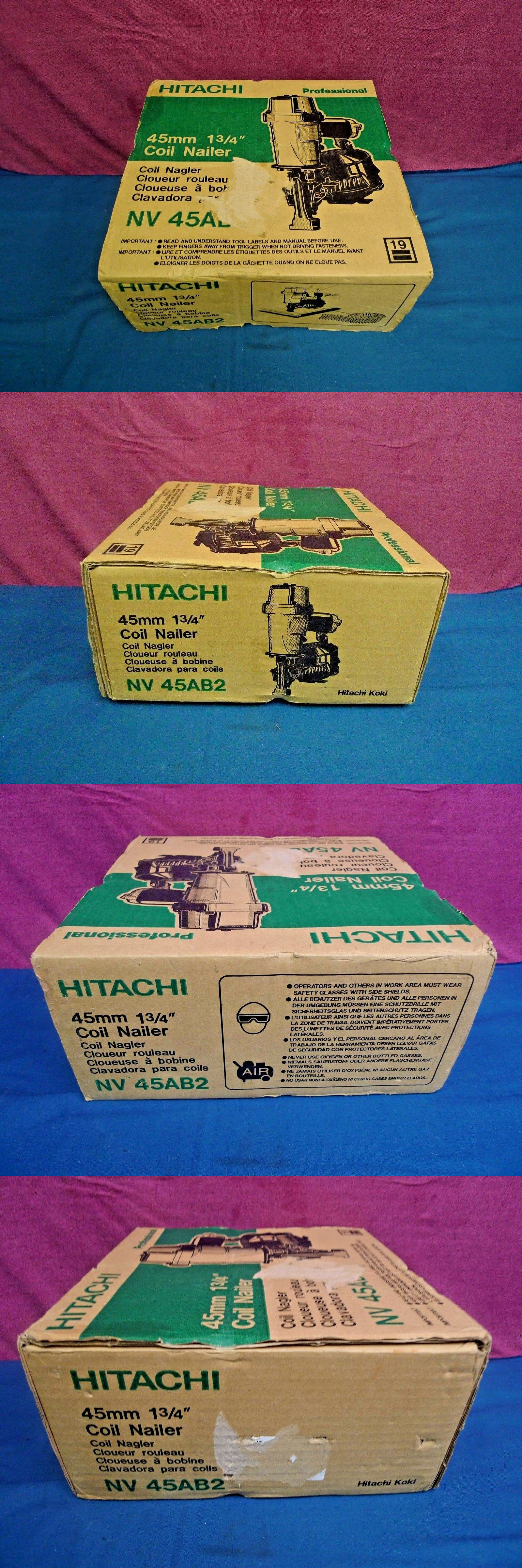 Roofing Guns 42243: Hitachi Nv45ab2 1-3 4 45Mm Coil Roofing Nailer ...