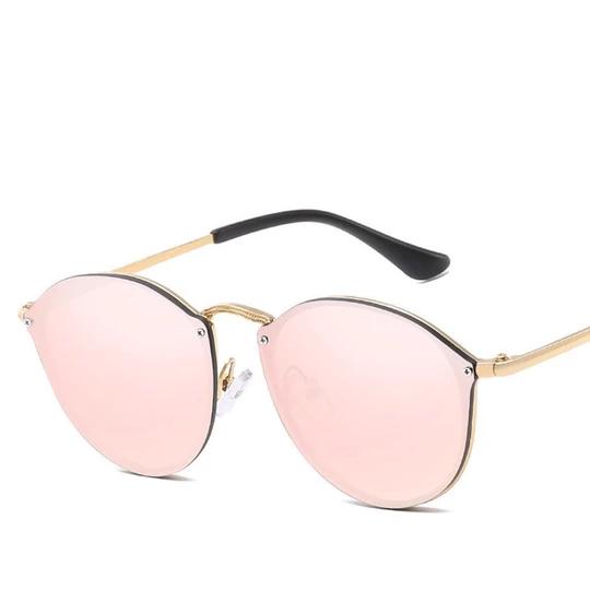 ELEGANTE DAMEN SONNENBRILLE Rahmenlos Retro Vintage Sunglasses