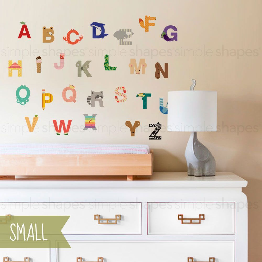 Alphabet Wall Sticker Kids Room Wall Decals Alphabet Wall Wall
